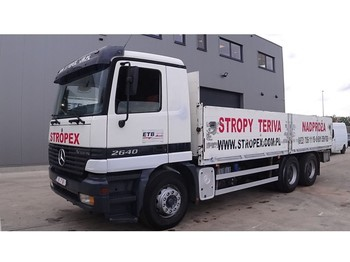 Mercedes-Benz Actros 2640 (6X4 / SUSPENSION LAMES / GRAND PONT / 10 ROUES) - flatbed truck