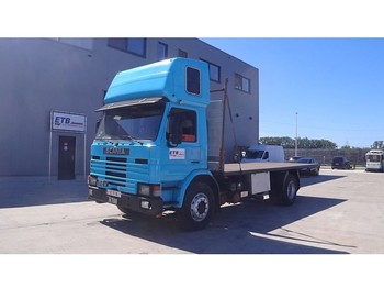 Flatbed truck Scania P 82 - 250 (FULL STEEL SUSP. / MANUAL PUMP)
