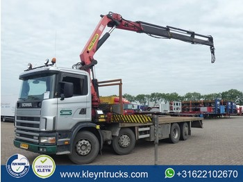 Scania R114.380 8x2*6 palf. pk26000 - flatbed truck