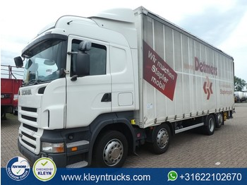 Flatbed truck Scania R380 8x2*6 9 tons lift