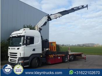 Flatbed truck Scania R400 fassi f410 b/450