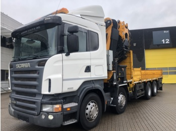 Flatbed truck Scania R420 with EFFER Crane