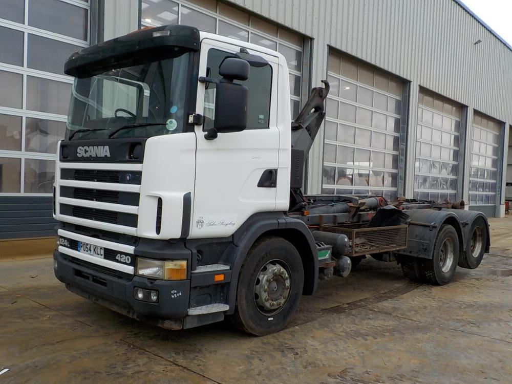 hook lift truck 2004 Scania 124L-420