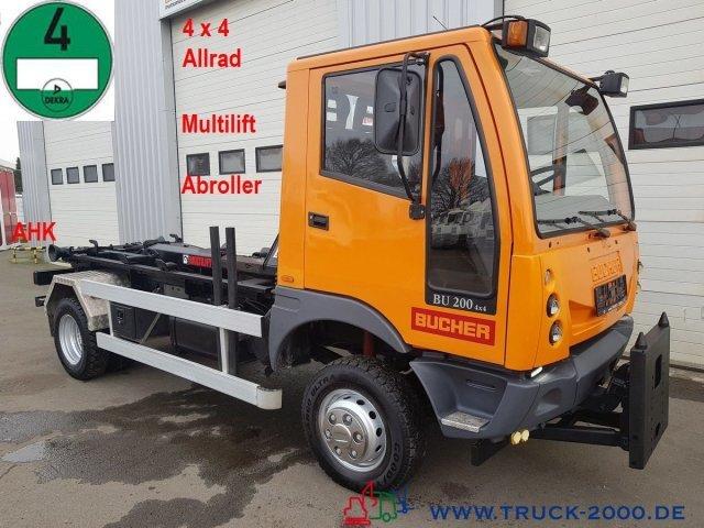 hook lift truck Bucher BU 200 4x4 Multilift Arbeitsplatte Euro 4