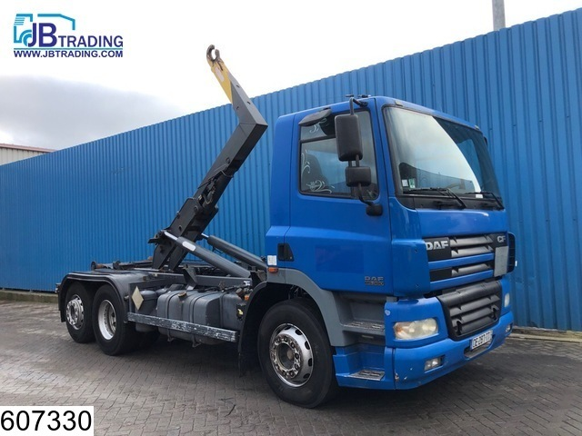 hook lift truck DAF 85 CF 380 6x2, Polybenne Guima P 17 Hook Container system, Manual, Analoge tachograaf