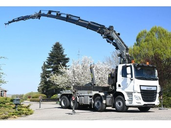 Hook lift truck DAF CF460 FAD !!2017!! FASSI 66tm +JIB+LIER/WINCH!! HAAK/ABROLL/HOOK65tkm!!MONTAGE,DACH/ROOF/MANUTENTION!!