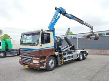 Hook lift truck DAF CF85-340 6x2/4 Euro 3 - HaakarmSysteem - HMF 1680 + Rotator en Knijper (2018) - banden 70% - 03/2022 APK (V374)