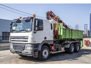 Hook lift truck DAF CF85.410 + GUIMA +BENNE amovible+ GRUE FASSI 110XA21