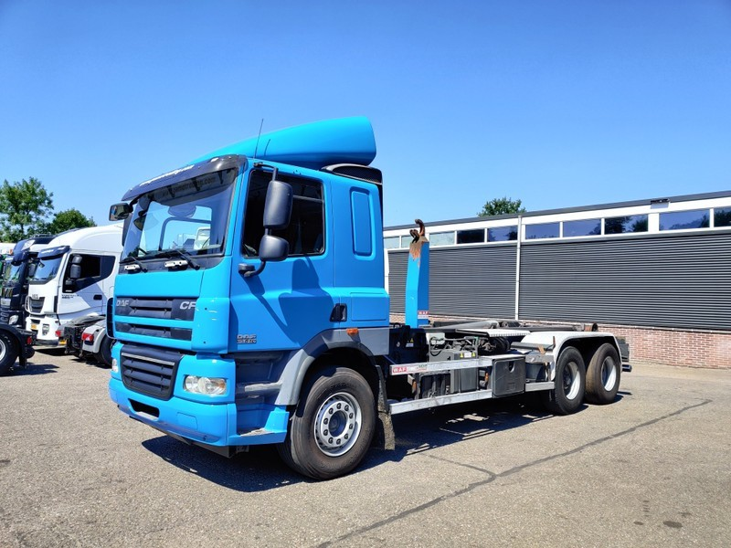 hook lift truck DAF CF85-510 6x2 Laagdak Euro5 - Haakarm systeem VDL 25Ton - Naafreductie