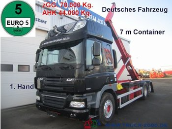 Hook lift truck DAF CF 510 ATe Space Cab 7m zGG. 70t. Deutscher LKW: picture 1