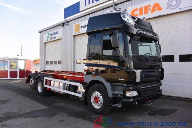 hook lift truck DAF CF 510 ATe Space Cab Ellermann HL24-65 1.Hd Alu