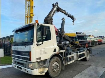 DAF CF 65.240 4X2 MANUAL EURO 2 FULL STEEL MET LEEBU  - hook lift truck
