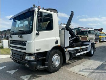 Hook lift truck DAF CF 75.250 4X2 MANUAL FULL STEEL + HOOKLIFT