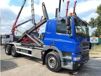Hook lift truck DAF CF 85.340 6x2 CONTAINER HAAKSYSTEEM 20T MARREL / AMPLIROL / ABROLLKIPPER - *453.000km* - LIFT-AS - 10 BANDEN - BELG