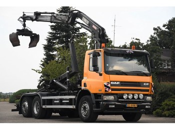 Hook lift truck DAF DAF CF75/360 !!KRAAN/HAAK!!MANUELL!!118dkm!!