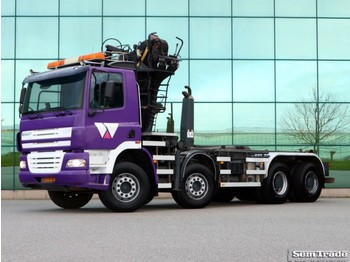 DAF FAD CF85.430 8X4 FULL STEEL MANUAL GEAR SUPER CONDITION HOLLAND TRUCK ... - hook lift truck