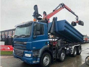 DAF FAD CF85-460 8X4 MET 20 TON HAAKARM EN EPSILON E  - hook lift truck