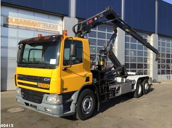 Hook lift truck DAF FAN 75 CF 310 Hiab 12 ton/meter laadkraan