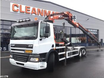 Hook lift truck DAF FAN 85 CF 380 Atlas 19 ton/meter laadkraan
