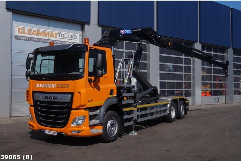 hook lift truck DAF FAN CF 430 HMF 21 ton/meter laadkraan