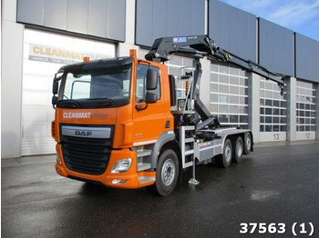 Hook lift truck DAF FAQ CF 460 8x2 Euro 6 HMF 26 ton/meter laadkraan