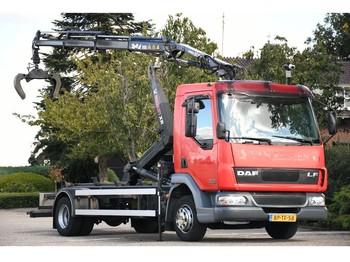 Hook lift truck DAF LF45/150 !!MANUAL/KRAAN/HAAK!!