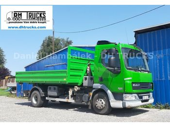 Hook lift truck DAF LF 45.180 teleskop / Platz für Kran