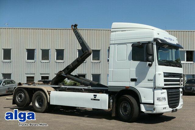 hook lift truck DAF XF105.460 6x2, Gergen, Euro 5, klima, gelenkt