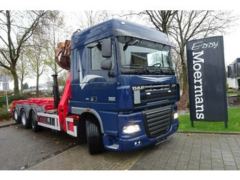 Hook lift truck DAF XF 105.460 Kran Container
