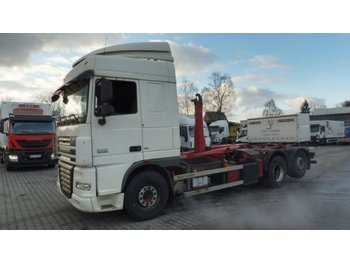 DAF XF 105.460 SC, EEV, Manual, Retarder, Palfinger T20, AHK - hook lift truck