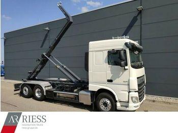 Hook lift truck DAF XF_480_FAN_Motorabt._Lenkachse_Meiller_RS_21.70