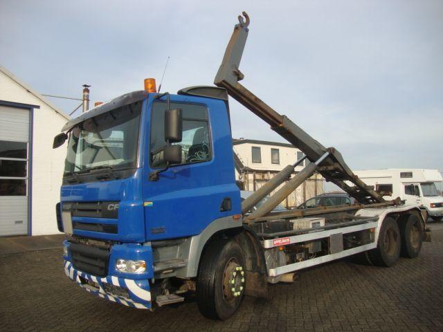 hook lift truck DAF cf 380 6x2 10 tyers