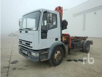 IVECO 130E18 With Crane 4x2 - hook lift truck