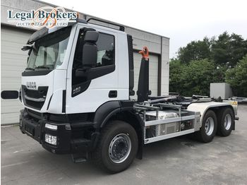 IVECO Stralis 460 X-Way 6X4 + AJK HL20-5430 Containersyst - hook lift truck