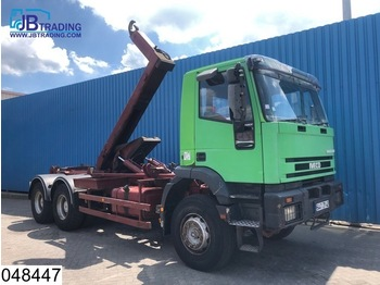 Iveco 260E37 Eurotrakker, 6x4, Steel suspension, Hook containeer system, Retarder, Manual, Hub reduction - hook lift truck