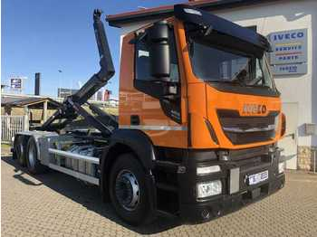 Iveco AD260X42Y/PS 6x2 Abrollkipper HIAB XR21S  - hook lift truck