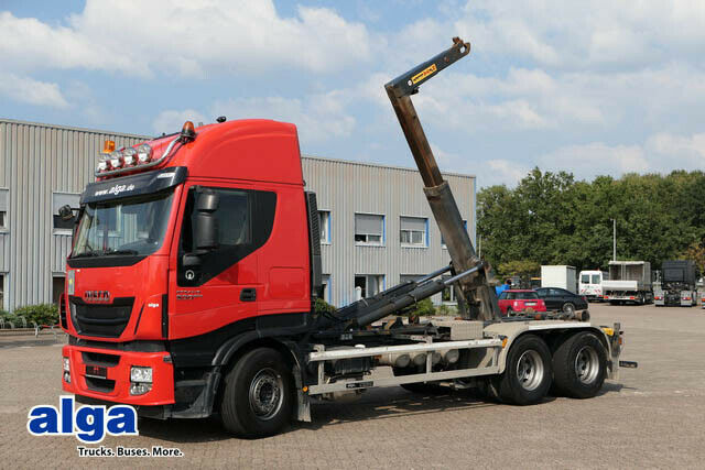 hook lift truck Iveco AS260S500 6x4, Hyvalift, Schalter, 1-Hand!!!