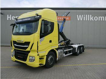 Hook lift truck Iveco AS 260S48 Y/PS Stralis*PalfingerT20-31*Lift/Lenk