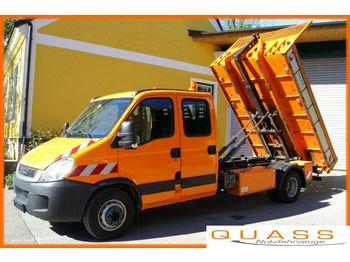 Hook lift truck Iveco Daily 65C17D /DOKA 7 Sitze/Euro5/3t Abrollkipper