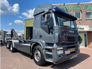 Iveco STRALIS 260S43 6X2/4 VDL HAAKARM 21TONS RETARDER TOP STAAT - hook lift truck