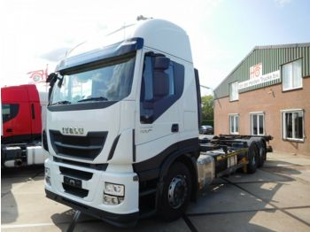 Hook lift truck Iveco STRALIS AS260S42Y-FP / 6X2 / CONTAINER / RETARDE