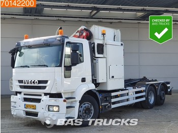 Hook lift truck Iveco Stralis 310 6X2 AD NL-Truck Retarder 6x2/4 Lift+Steering Axle Side Loader