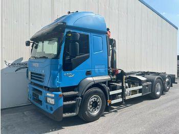 Hook lift truck Iveco Stralis 420 €5 Palift 20T Kran Lift Retarder