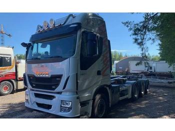 Hook lift truck Iveco Stralis AS 560 S46 8x4 (DAF-MAN)