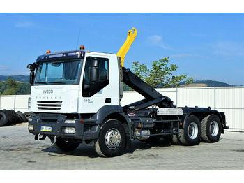 Hook lift truck Iveco TRAKKER 410 Abrollkipper 5,90m *6x4* Top Zustand