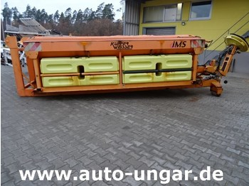 Hook lift truck Küpper Weisser Salzstreuer 6m³ 6,5m³ 3000L Sole auf Abrollgestell