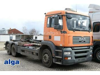 Hook lift truck MAN 26.310 TGA 6x2, Multilift 26256FHJ, Dachklima