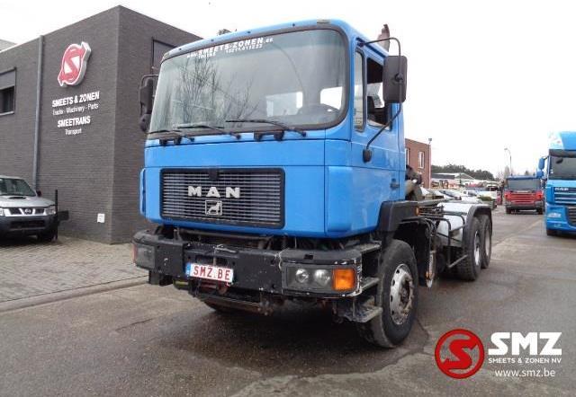 hook lift truck MAN 26.322 lames/steel 6x4