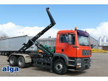 Hook lift truck MAN 26.390 TGA BB 6x4, Meiller RK 20.65, Schalter