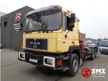 Hook lift truck MAN 27.342 palfinger pk 8000 + hook